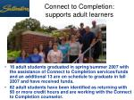 connect to completion supports adult learners