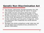 genetic non discrimination act