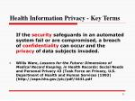 health information privacy key terms1