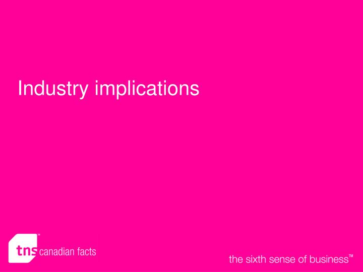 Industry implications