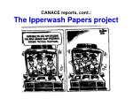 canace reports cont the ipperwash papers project