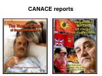 canace reports