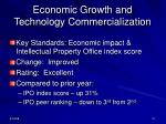 economic growth and technology commercialization