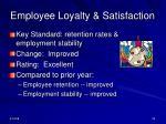 employee loyalty satisfaction