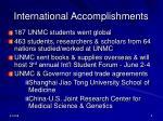 international accomplishments