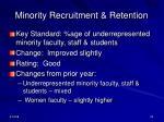 minority recruitment retention