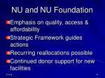 nu and nu foundation