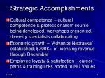strategic accomplishments1