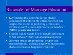 rationale for marriage education