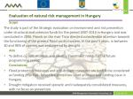 evaluation of natural risk management in hungary