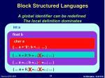 block structured languages2