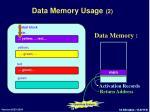 data memory usage 2