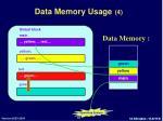 data memory usage 4