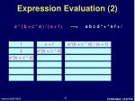 expression evaluation 2