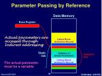 parameter passing by reference