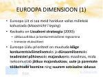 euroopa dimensioon 1
