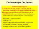 cartons ou poches jaunes