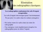 elimination des radiographies classiques
