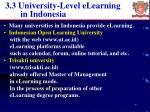 3 3 university level elearning in indonesia