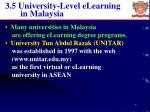 3 5 university level elearning in malaysia
