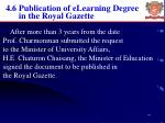 4 6 publication of elearning degree in the royal gazette