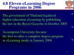4 8 eleven elearning degree programs in 2006