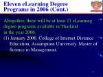 eleven elearning degree programs in 2006 cont
