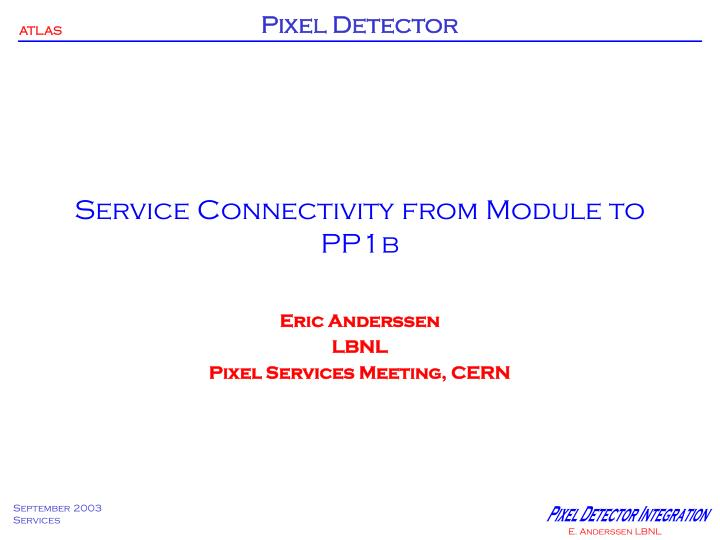 service connectivity from module to pp1b n.