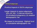 family subgroups