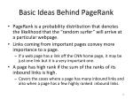 basic ideas behind pagerank