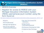 michigan online educator certification system moecs