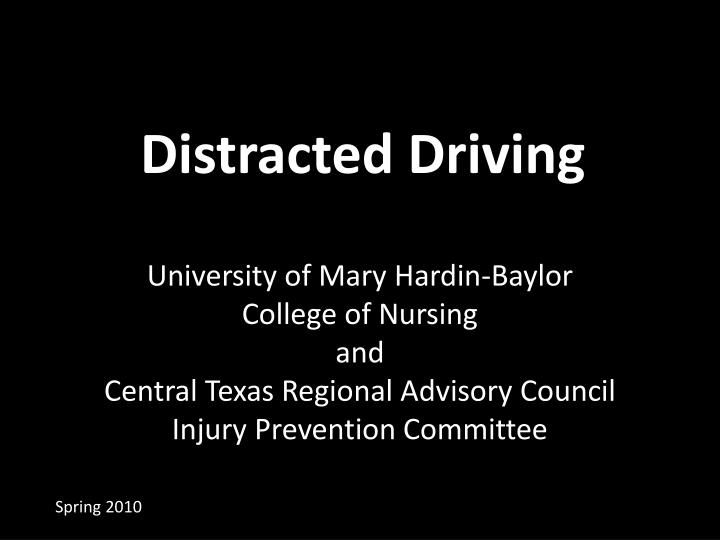 distracted driving n.