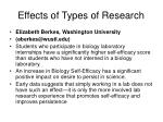 effects of types of research
