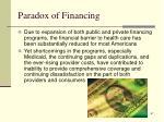 paradox of financing