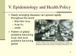 v epidemiology and health policy