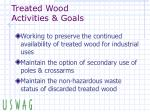 treated wood activities goals