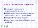 uswag treated wood guidelines
