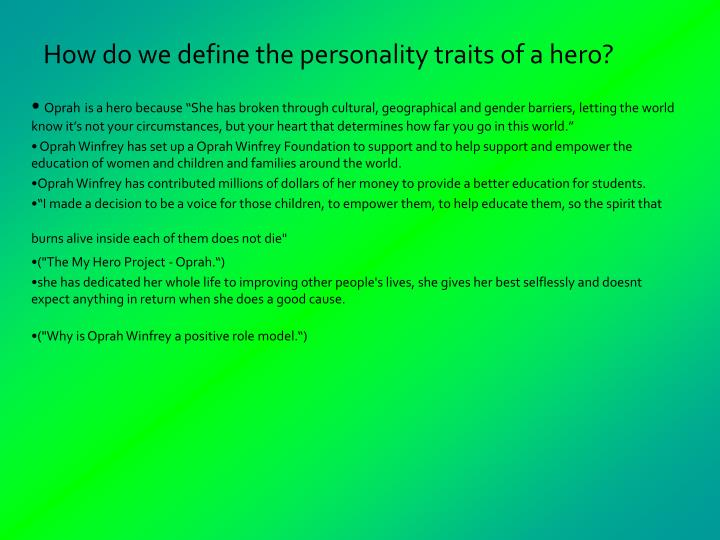 essay on personal characteristics This is an essay on my qualities the qualities that really stand out and a very prominent part of my personality are: i am well organized, i am dedicated and.