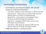 increasing transparency