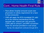cont home health final rule