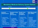 mandatory medicare delivery system reform