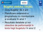 bugetul statului texas