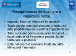 principii proces de evaluare a impactului fiscal