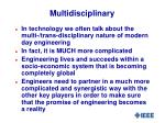 multidisciplinary