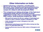 other information on india1