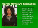 oprah winfrey s education