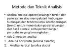 metode dan teknik analisis