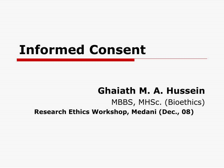 informed consent n.