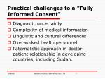 practical challenges to a fully informed consent