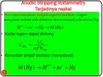 anodic stripping voltammetry terjadinya reaksi